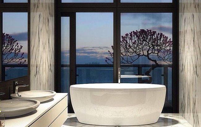 Фото: Панорамний вигляд у ванній кімнаті (likeni.me)