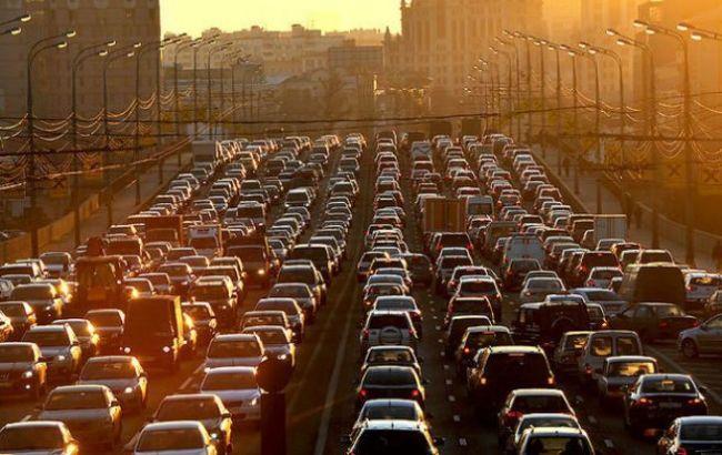 Фото: затори в Києві