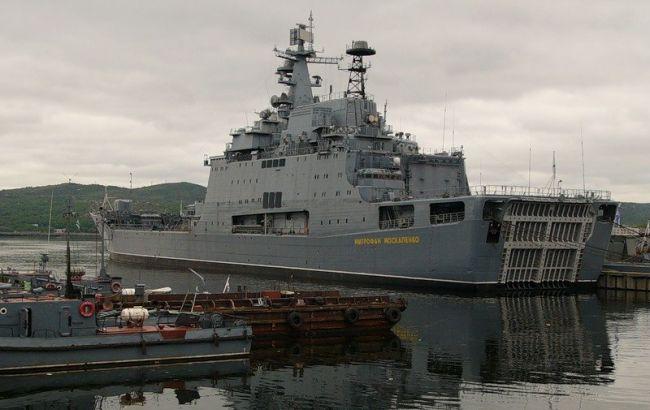 Фото: російські військові кораблі у Сирії