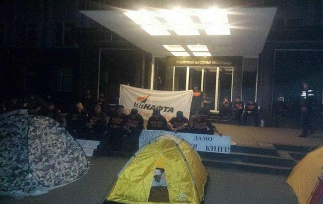 Фото: Палатки біля Кременчуцької Укртранснафти