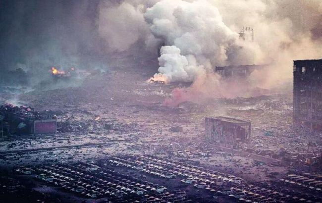 Фото: последствия взрыва в Китае