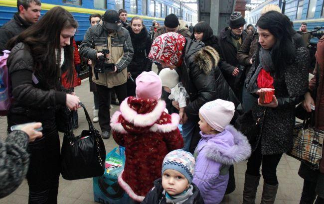 Фото: переселенцы в Украине