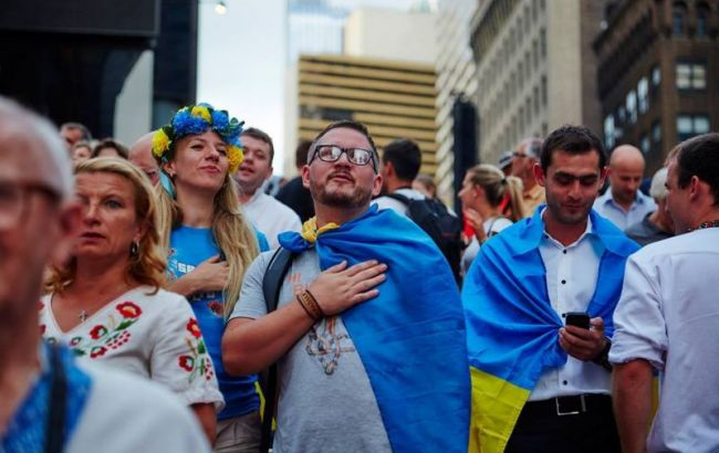 Фото: украинцы (Юрия Лозицкого со страницы Razom for Ukraine)