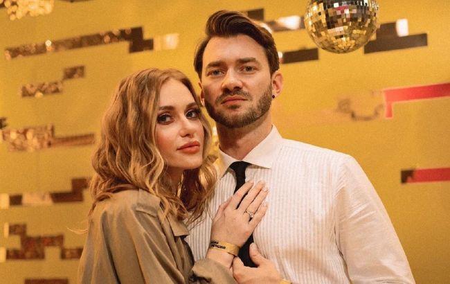 Мой: Слава Каминская в кожаном платье вышла в свет с Дмитрием Дикусаром