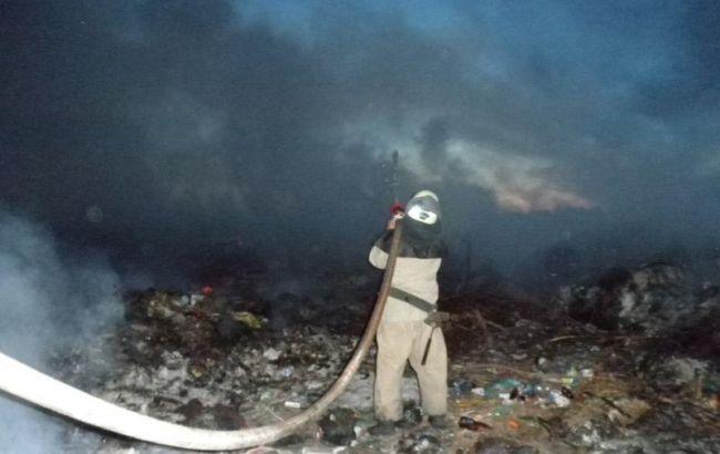 Фото: пожар на свалке (ГУ ГСЧС в Луганской области)