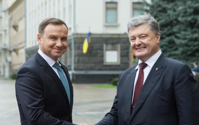 Фото: президенты Польши и Украины провели переговоры в Киеве