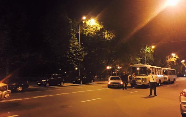 Фото: Моделювання атаки на Автомайдан