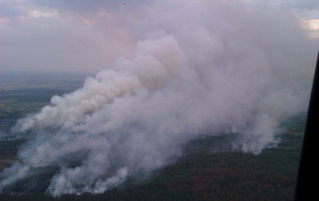 Фото: пожар в Зоне отчуждения