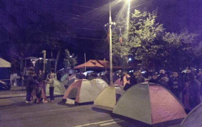 Фото: протести в Кишиневі (Блокнот)