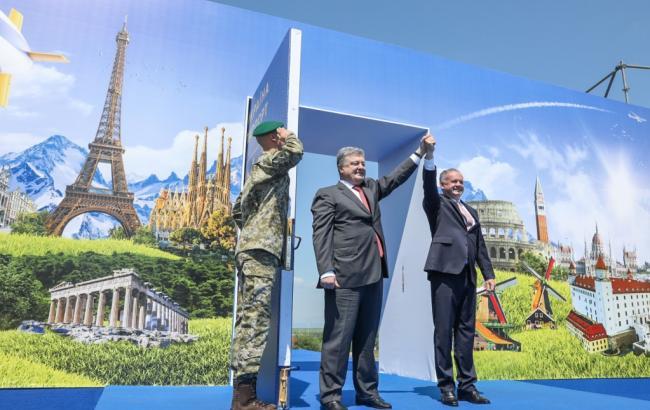 Украинские КПП будут осуществлять единый контроль с соседними странами ЕС, - Порошенко