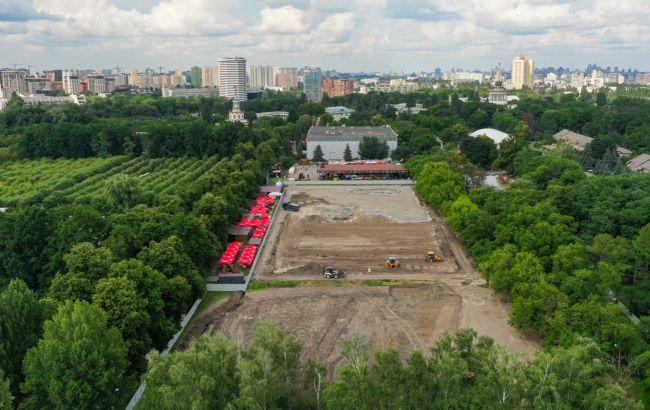 В сети показали строительство уникального урбан-парка на ВДНГ в Киеве