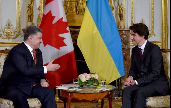Порошенко провел первую встречу с новым премьером Канады