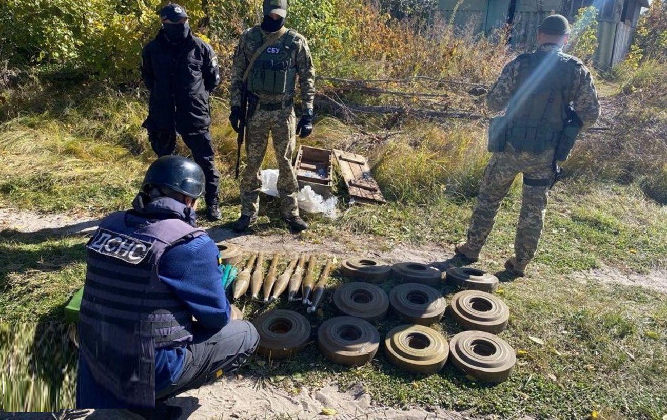 В Луганской области возле автобусной остановки нашли мины боевиков