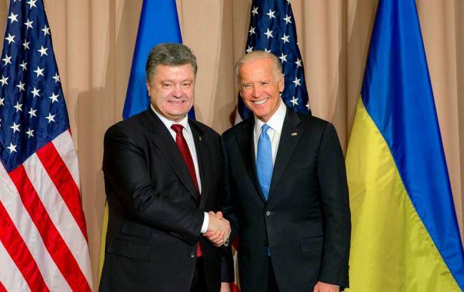 Фото: Петр Порошенко и Джозеф Байден