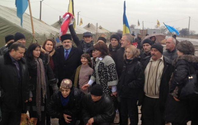 Фото: активисты блокады Крыма заявили о смене формата в результате запрета на ввоз товаров на полуостров