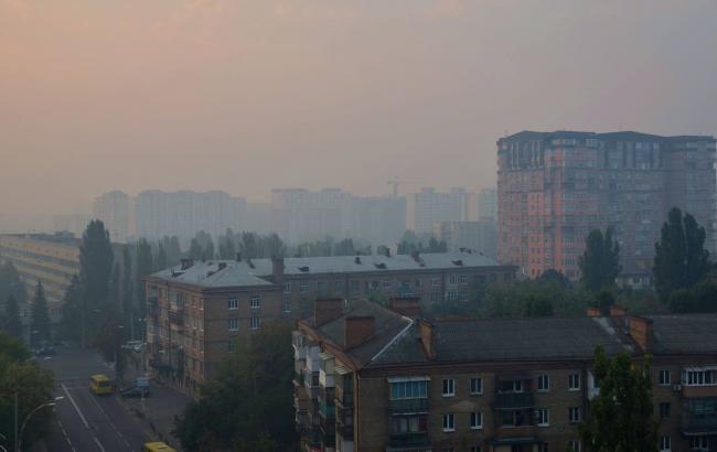 Фото: рівень забруднення повітря у Києві перевищує норму