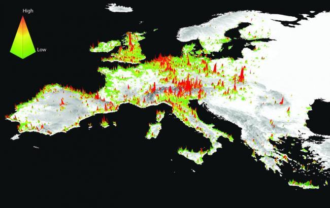 Фото: Карта самых красивых мест Европы (scienmag.com)