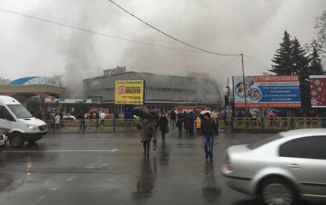 """В Ужгороде горит универмаг """"Украина"""""""