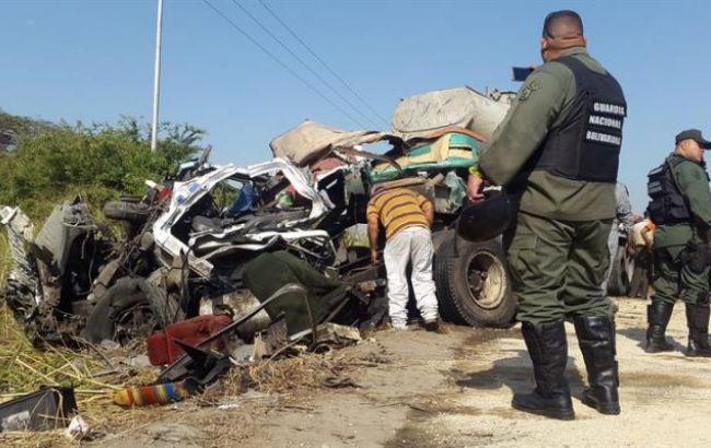 Фото: место аварии в Венесуэле