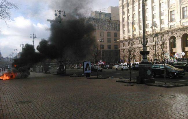 Фото: мітинг таксистів у Києві (Громадське.TV)