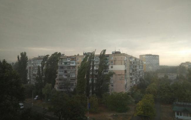 Фото: Дождь в Днепре (dp.vgorode.ua)