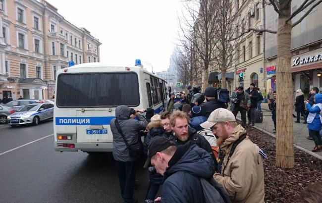 Фото: Задержание оппозиционеров в Москве
