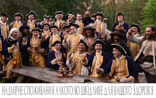 """В сеть попали кадры со съемок нового рекламного ролика коньяка """"Довбуш Карпатський"""""""