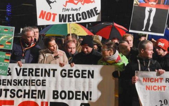 Фото: акция протеста против мигрантов в Лейпциге