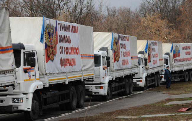 """Фото: черговий """"гумконвой"""" від РФ спрямовується на Донбас"""