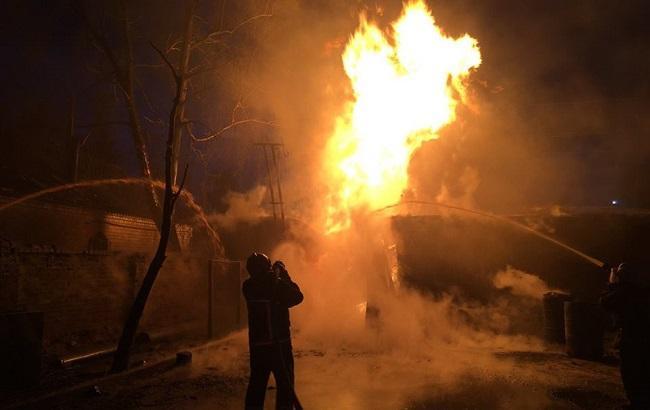 Фото: пожар под Харьковом