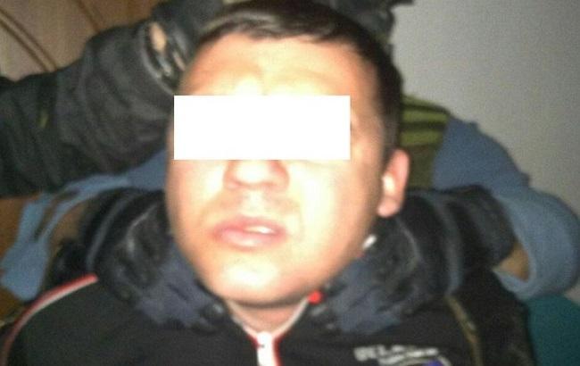 Фото: один із затриманих бойовиків
