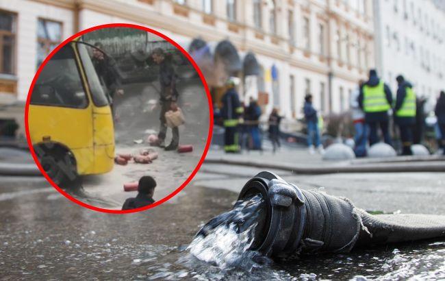 У Києві загорілася маршрутка з пасажирами всередині: гасили перехожі