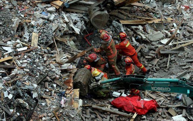 Фото: обвал домов в Китае