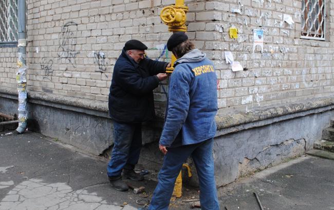 """Фото: """"Херсонгаз"""" восстанавливает газоснабжение жителей Геническа"""