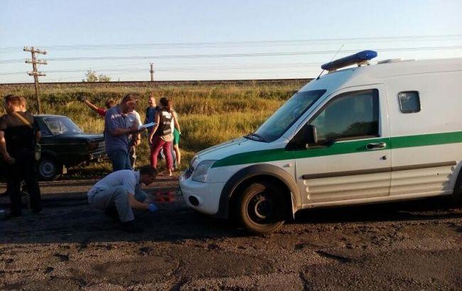 """Фото: неизвестные напали на инкассаторов """"Ощадбанка"""""""
