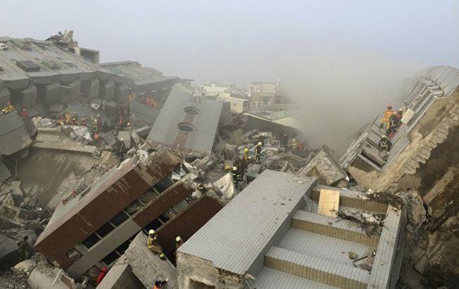 Фото: последствия землетрясения на Тайване (Reuters)