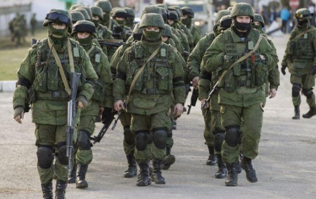 Фото: російські військові у Криму