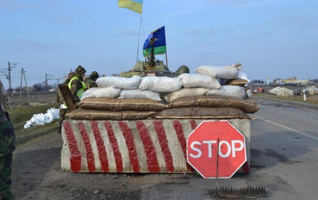 Фото: блокпост ЗСУ в зоні АТО