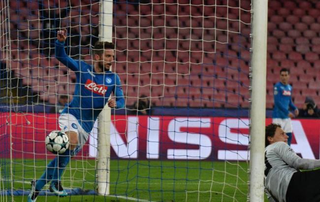 Фото: гол Инсинье в ворота Пятова