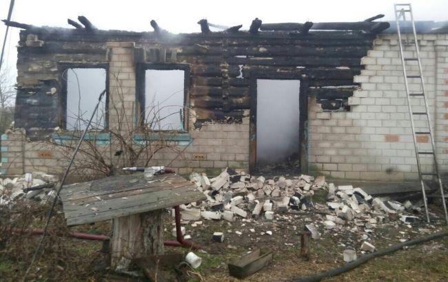 Фото: последствия пожара в Черниговской области (пресс-центр ГСЧС)