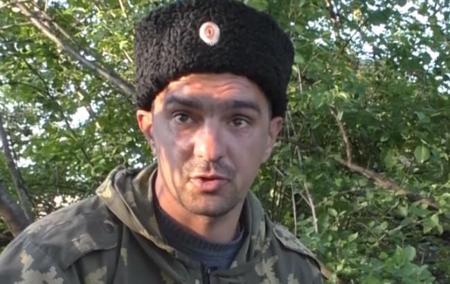 """Фото: Боевик """"ЛНР"""" (скриншот youtube.com/Anna News)"""