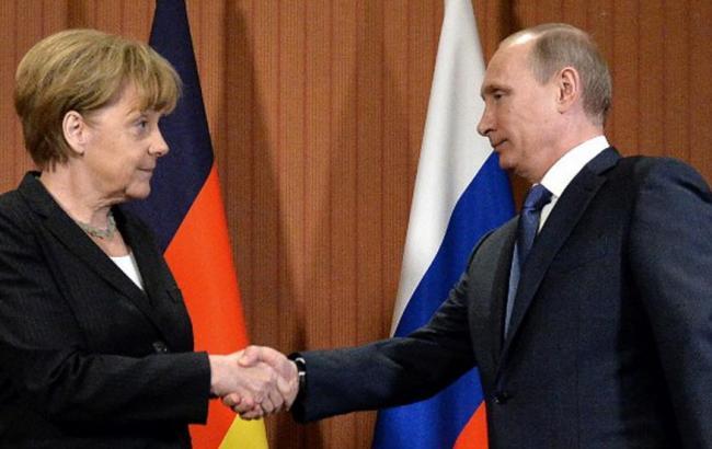 Фото: Ангела Меркель и Владимир Путин
