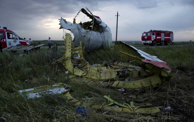 Фото: обломки Boeing 777 на Донбассе