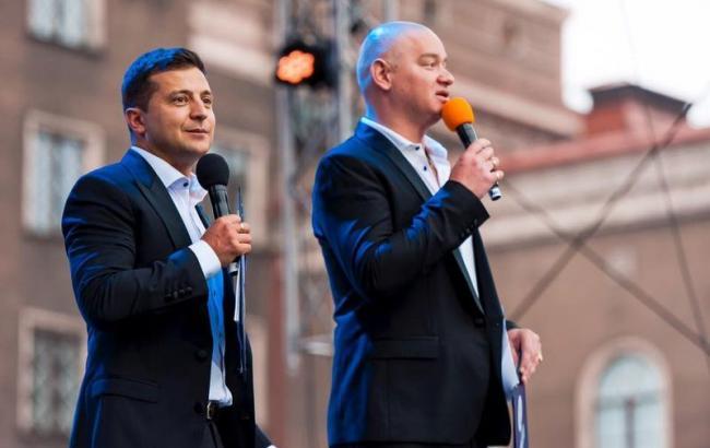 Фото: Владимир Зеленский и Евгений Кошевой (cita.com.ua)