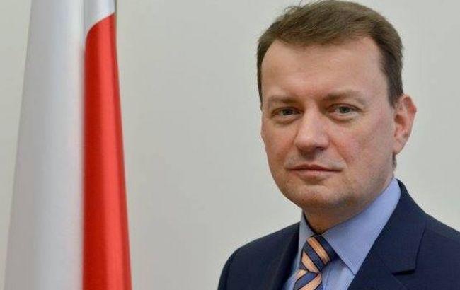 Фото: глава МВД Польши Мариуш Блащак