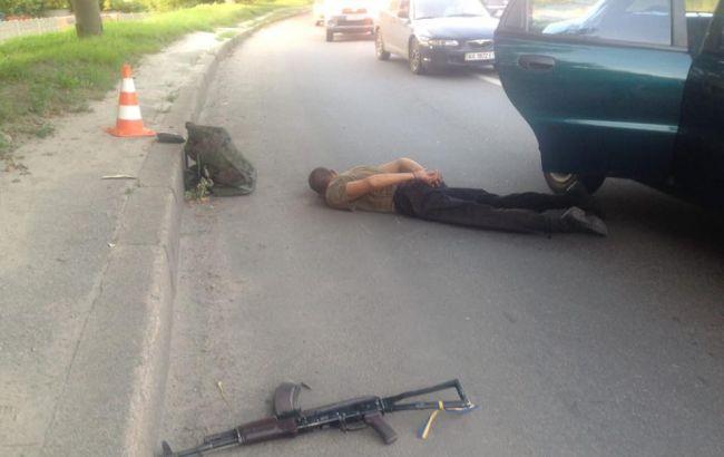 Фото: поліція затримала неадекватного військового
