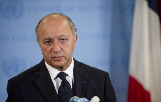 Фото: глава МИД Франции Лоран Фабиус