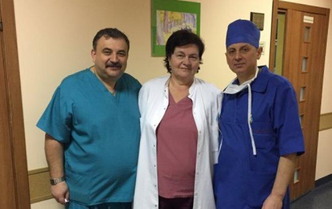 Фото: Хирурги Игорь Гримак, Александра Бурда и Андрей Поцюрко