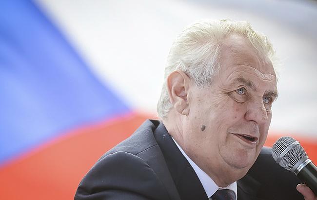 Фото: президент Чехии Милош Земан (zemanmilos.cz)