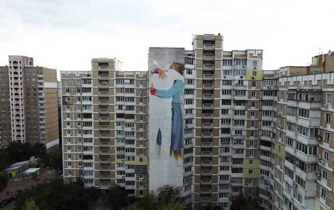 Фото: Новый мурал на харьковском шоссе (facebook.com/geo.ya.1)